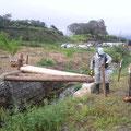 波伝谷農道に丸太橋を架けるプロジェクト