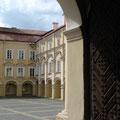 Вид на Большой двор из костела Св. Иоаннов