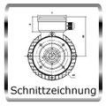 E Motoren, Zeichnung Beispiel B5 Flanschmotor, Link zum Download Technik.