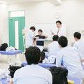 柔道整復学科、固定の授業です
