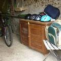 casques et sacs à dos pique nique / helmets and backpacks picnic