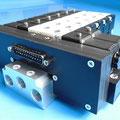Batterie di elettrovalvole per aria compressa con sistema di connessione multipolare