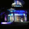 俳聖殿と津軽三味線の音色が美しい夜でした、たくさんのお客様が足を運んでいただけて感動です