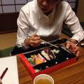 ☆おまけ これがうわさの赤福丼(よーく見るとご飯の上に赤福をトッピング うふっ)