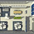 Neugestaltung einer Büroetage mit Chill-out-Bereich