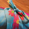 Wickeldecke Hellblau Blumenmuster