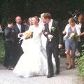 Ankunft Hochzeitspaar im Schloß
