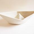 Origami Schiffchen Schale aus Porzellan
