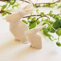 Origami Hasen aus Porzellan