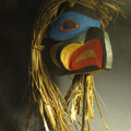 Kwa-Gilth cedar Eagle Mask by Carl Simeon (Haida - Kwakwaka'wakw)