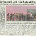 Kulturzentrum lädt zum Geburtstagsfest - 19.03.2010