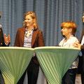 Dr. Julia Schmitt-Thiel im Gespräch mit Hermann Memmel, Elfriede Mies und Erich Spensberger