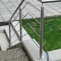 Edelstahlgeländer - Stiegengeländer aus Edelstahl (© Raven Metall Design)