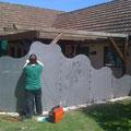 Gartenwand aus Stahl