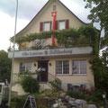 """Restaurantbeschriftung """" Alte Laterne """" Zollikerberg"""