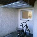 WANA Nischenanpassung, Dach mit Polycarbonat Wellplatten 1,4 mm klar.