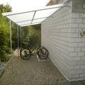WANA 600. 1 Zoll Rohrrahmen. Dach aus Dreifachsteg Wellplatten Polycarbonat