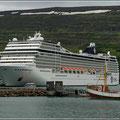 Island ist ein beliebtes Ziel für Kreuzfahrer