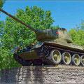 T34 Panzer an der Grenze