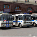 Die Polizeipräsenz in Moskau ist gewaltig