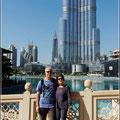 Wir vor dem Burj Khalifa