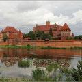 Die Marienburg liegt am Fluß Nogat