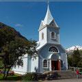 Die Kirche ist das Schmuckstück von Seydisfjördur