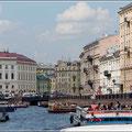 Bootsfahrt in Petersburg