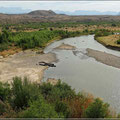 Grenzfluß Rio Grande. Das rechte Ufer ist dann schon Mexiko.