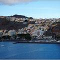 Blick vom Schiff auf San Sebastian de La Gomera