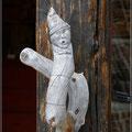 Geschnitzter Holzgriff