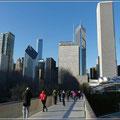 Spaziergang im  im Millennium Park