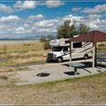 Unser Campingplatz auf Antelope Island