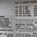 Saftige Parkgebühren (die 18,375 % Tax kommt noch dazu)