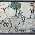 Dieses Wandgemälde spricht für die Hotelgegend