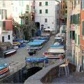 """Der """"Hafen"""" von Riomaggiore"""