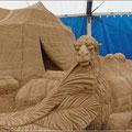 Kamel im Wüstensand