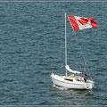 Bei der Flagge benötigt man keine Segel