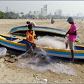 Chowpatty Beach in Mumbai