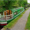 Hausboot auf dem Brecon Kanal