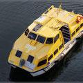 Tenderboot für die Fahrt an Land