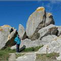 Granitsteine gibt es hier auf viele Kilometer