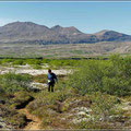 Wanderung durch Lavafeld