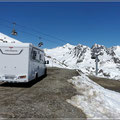 Unser Parkplatz in 2.700 m Höhe