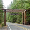 Einfahrt zum Mt. Rainier