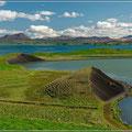 Landschaft in Mývatn