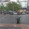 Zwischendurch gab es heftige Regenschauer