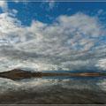 Antelope Island mit Spiegelung