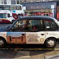 Ein typisch britisches Taxi