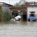 Das ganze Dorf war überschwemmt